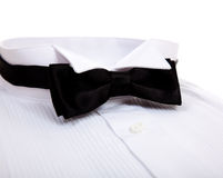 A bow tie and Tuxedo shirt Stock Photography