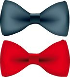 Bow tie (vector). Vector illustration of a red bow tie with shadows Stock Photography