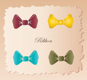 Bow tie vintage set background Stock Photography
