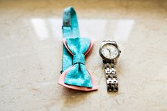 Bow tie and watch Stock Photography