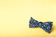 Bow tie on yellow Royalty Free Stock Image