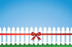 Bow Tied Picket fence Royalty Free Stock Image