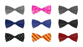 Bow ties - 9 different colors Stock Photos