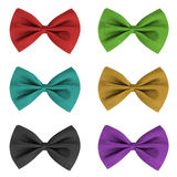 Bow ties in different colours Royalty Free Stock Photography