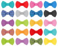 Bow-ties  illustrations Royalty Free Stock Photo