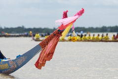 Bow of traditional Thai longboat Stock Photo
