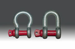 Bow type and D type shackles Royalty Free Stock Image