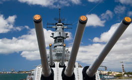Bow of U.S.S. Missouri Royalty Free Stock Image