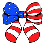 Bow in the USA flag colors icon cartoon Stock Photo