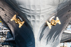 Bow of USS Midway Museum in San Diego Stock Photos