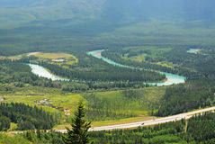 Bow valley stock image