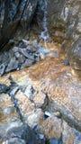 Bow valley  banff colors of autumn waterfall cascade amphitheater Stock Photos