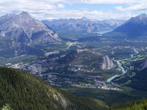 Bow valley and banff town Royalty Free Stock Image
