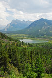 Bow valley and mountains royalty free stock images