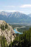 Bow valley and mountains stock image