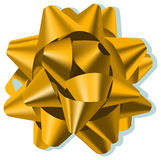 Bow (vector). A gold silk vector bow Royalty Free Stock Image