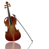 Bow and violin Royalty Free Stock Images
