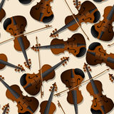 Bow and violin pattern Stock Photo