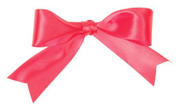 Bow of wide red ribbon Royalty Free Stock Image