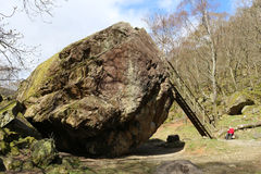 Bowder Stone, Borrowdale, Cumbria, England Royalty Free Stock Photo