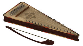 Bowed psaltery Stock Images