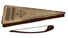 Bowed psaltery Royalty Free Stock Images