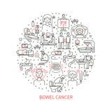 Bowel cancer icons Royalty Free Stock Photo