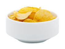 Bowel of Potato Chips Stock Photos