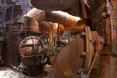 Bowels of rusting industrial site Royalty Free Stock Photography