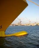 Bowen av en ship Arkivfoto