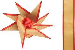 bowen dekorerar gåvan Arkivfoton