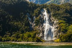 Bowen Falls in Milford Sound Royalty Free Stock Image