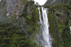 Bowen Falls Milford Sound close up stock photos