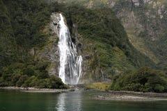 Bowen Falls New Zealand. Bowen Falls at Milford Sound New Zealand Royalty Free Stock Image
