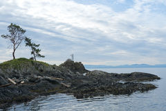 Bowen Island lighthouse looking out to sea Stock Images