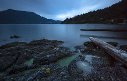 Bowen Island Long Exposure Mountains Royalty Free Stock Photo