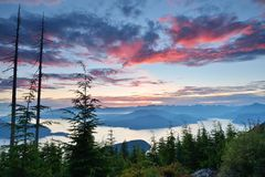 Bowen Lookout at Cypress Mountain Stock Images