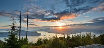 Bowen Lookout at Cypress Mountain Royalty Free Stock Image