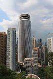 Bowen road view of wan chai stock images