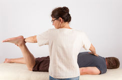 Bowen therapy of a man Stock Photography