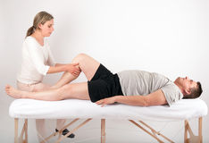 Bowen therapy of a man Stock Photo