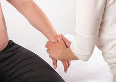 Bowen therapy of a man Stock Images
