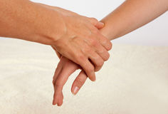 Bowenu masażu traktowanie ręka Fotografia Stock