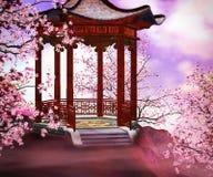 Фон азиата Bower иллюстрация штока