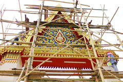 Bower on advancement. One in several style of bower of temple in Thailand Stock Photography