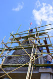 Bower on advancement and bamboo scaffolding. One in several style of bower of temple in Thailand Stock Images