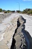 Bower-Alleen-Verflüssigung, Christchurch-Erdbeben Stockfotos