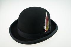 Bower-Hut mit Feder Lizenzfreie Stockbilder