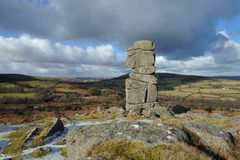 Bowermans nose rocks in Dartmoor Stock Photos