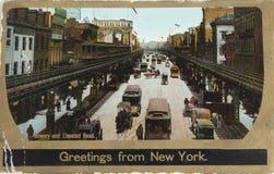 Bowery в 1906 Стоковое Фото